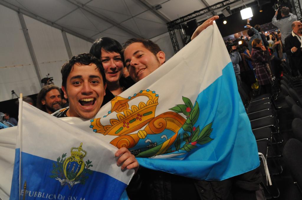 Fernando, Kelly och Lior från San Marino. Foto: Linda Granback