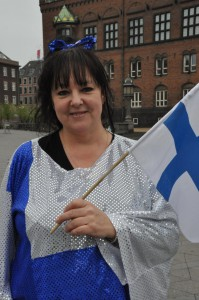 Lisette hoppas på svensk seger i kväll. Foto: Linda Granback